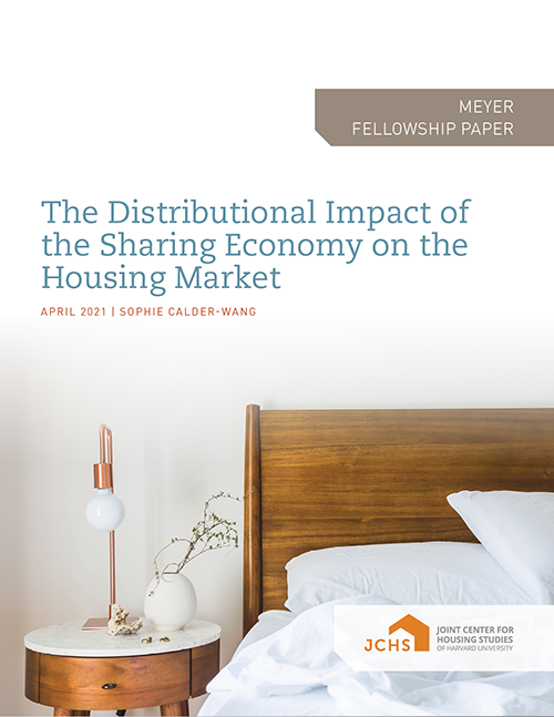 "Cover of the paper ""The Distributional Impact ofthe Sharing Economy on the Housing Market."""
