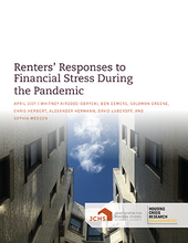 "Cover of the paper ""Renters' Responses to Financial Stress During the Pandemic."""