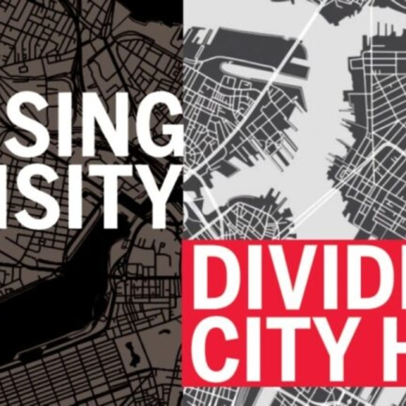 "Graphic saying ""Housing Density Divides City Hall."""